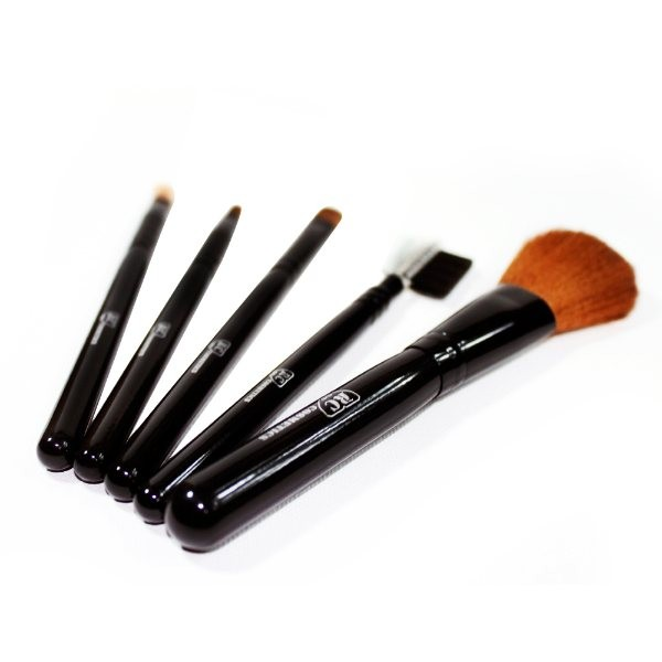Caramel Dream 5 Pieces Travel Makeup Brush Set