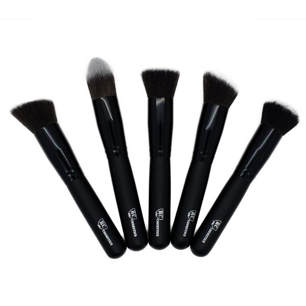 Contour and Highlight Black Matte Kabuki Set of 5
