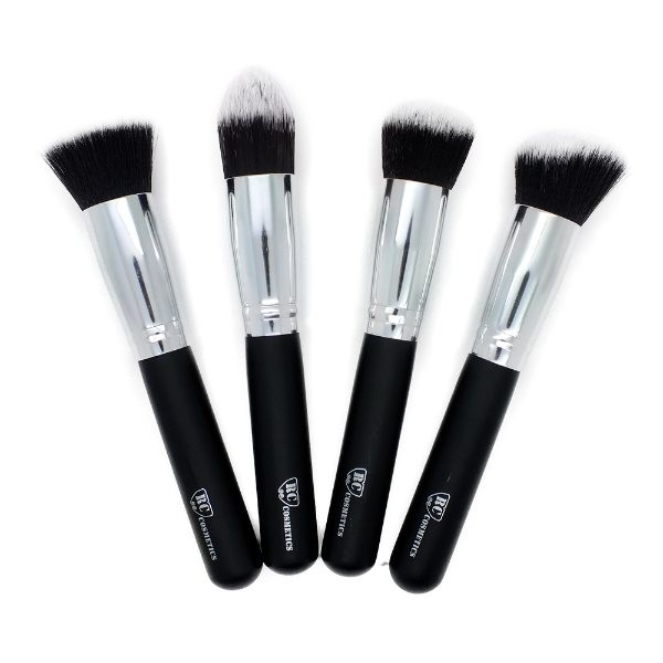 Premium 4 Piece Synthetic Kabuki Makeup Brush Set