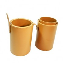 Gold Big Leather Brush Cup Holder Case