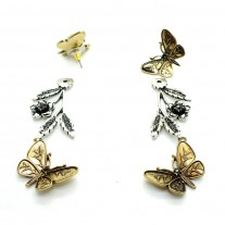 Fashion  Jewelry earrings Butterfly Rose Gold Plated Stud