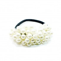 Crystal Pearl Hair Tie In White