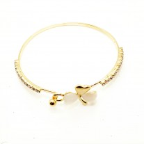 Girl Simple Style Love Heart Rhinestone Pendant Bracelet