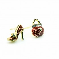 Fashion asymmetric Shoe and HandBag earrings