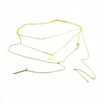 Fashion Women Bang Bang Multi layer Pendant Chain Statement Necklace