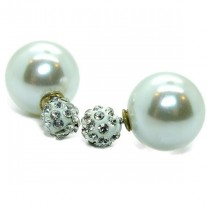 Fashionable design indian round crystal fancy stud earring