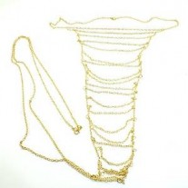 Gold Body Belly Waist Chain Bikini Beach Slave Pendant Necklace Jewelry