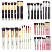 Professional Kabuki Face & Eye 10 Piece Makeup Brush Set Royal Care Cosmetics
